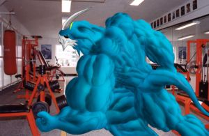 Exvemon in the GYM by Berni8