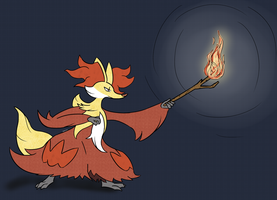 Gift - Delphox by SWN-001