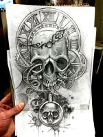 sketch of design for tomorrows tattoo by deaconfrost13