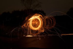Light painting with wire wool by inksurgeon