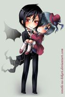 Sebastian and his young Master by Tenshi-no-Hikari