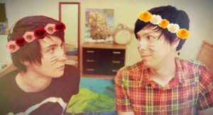 Dan and Phil. Flower crowns. by YourGuardianAngels