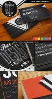 Modern Retro Business Card by deiby