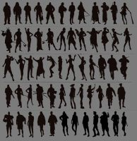 Some silhouette studies by Izaskun