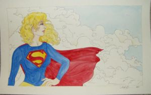 Supergirl Ms. Blue Sky by AmberStoneArt