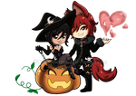 AT. Chibi Halloween 2015 by Oceanmermaid