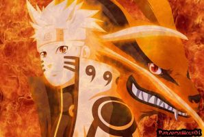 Naruto and Kurama by Paradisewolf01