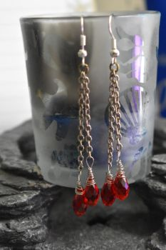 Blood drop earrings v.2 by lynneabrunner