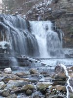 Snow at Cummings Falls TN II by envanatta42