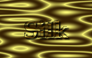 Golden text effect on silk by GIMPtricks