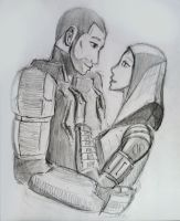 Tali x Shepard (52) by spaceMAXmarine
