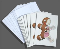 Gingerbread Man Holiday Cards by freeny