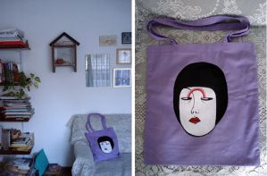 hand drawn tote bag by songsforlunatics