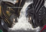 Loki and Thor - colour by lupinemagic