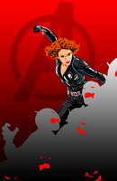 Avengers: Age of Ultron Black Widow Poster by Trevinoss97