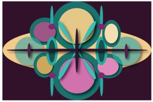 purple abstract design by dontbemad