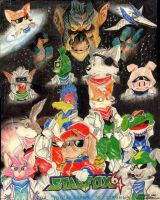 starfox 64 poster by supercrazzy