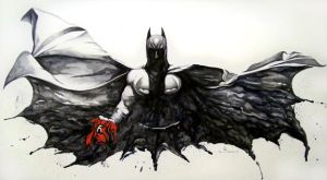 Mournful Batman by Meador