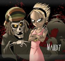 Mandy and Rasta Grim by Giepie