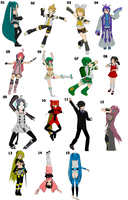 Trust Me Vocaloid poses by TotodileDash