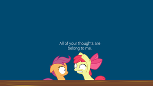 All of Your Thoughts Wallpaper by postcrusade