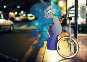 Luna midnight stroll by 0rangePanda