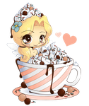Hot Cocoa Emiko - Chibi Commission by YamPuff
