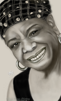 Portrait of Maya Angelou by MariColl