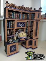 Witch Cottage Study Desk/bookshelf by MacLeodDragons