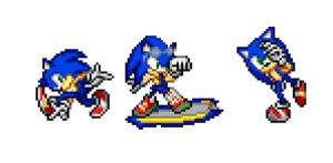Custom Sonic sprites by Destro-the-Dragon