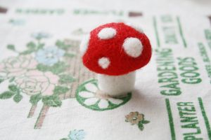 Mushroom Needle Felting by li-sa