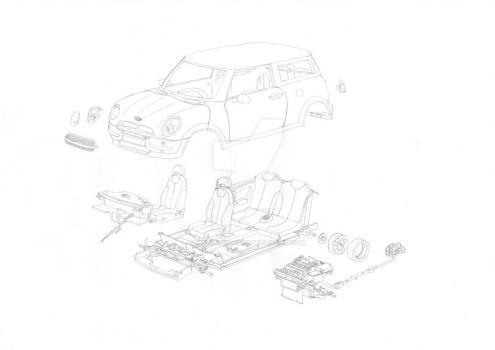 Exploded View of a Mini Cooper Kit by millenium-night