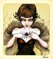 Little Queen of clubs by Anatis-Ocellata