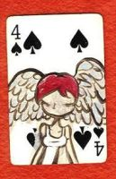 Playing Card 4S by kettleart