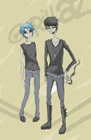 Murdoc and 2D by Contenebratio