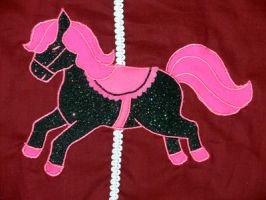 Black pony applique detail by The-Cute-Storm