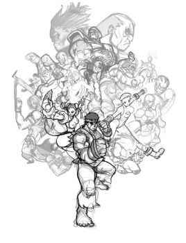 Super Street Fighter 4 by Seeso2D