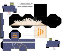 roy mustang cubee by animepapertoys