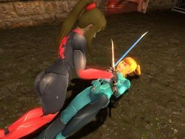 Samus Sword Fight 2 by rcoolcat2