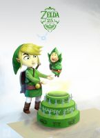 Zelda 25th anniversary by ImmarArt