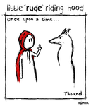 little rude riding hood by iigmiir