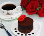 Single Serving Chocolate Caramel Cake by theresahelmer