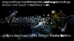 AlaxanderTheGreat Designs Background/Info by BCMmultimedia