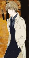 Remus Lupin in trench coat by metamorphism