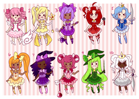 Magical Girls Adopt Set by Pyonkotcchi