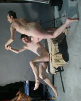 Flying Nude Men 1d by TheMaleNudeStock