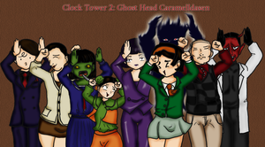 Ghost Head Caramelldansen :3 by lonelymori