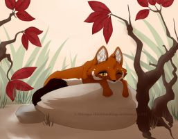 Lying in the sun by HidesBehindThings