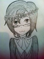 Kyrie in a flower crown!(for LuLu!) by Greeny-Star