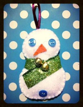 Snowman Ornament Version 1 by plushie-junkie07